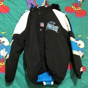 VTG Pro Line Carolina Panthers Hoodie Puffer NFL S